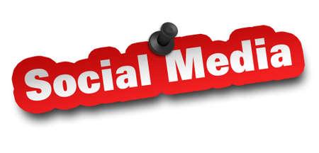 social media concept 3d illustration isolated on white background Standard-Bild