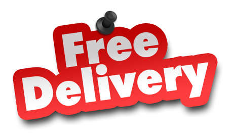 free delivery concept 3d illustration isolated on white background
