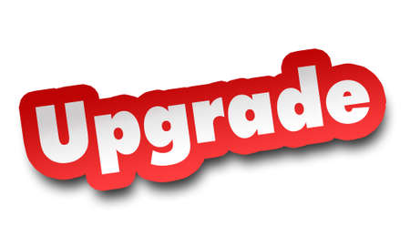upgrade concept 3d illustration isolated on white background