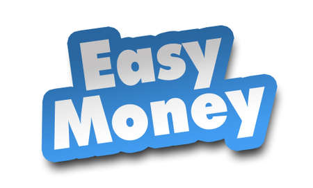 easy money concept 3d illustration isolated on white background