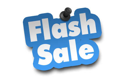 flash sale concept 3d illustration isolated on white background 免版税图像