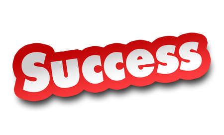 success concept 3d illustration isolated on white background