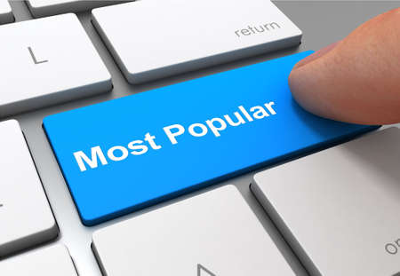 most popular push button concept 3d illustration isolated Stock Photo