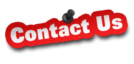 contact concept 3d illustration isolated on white background