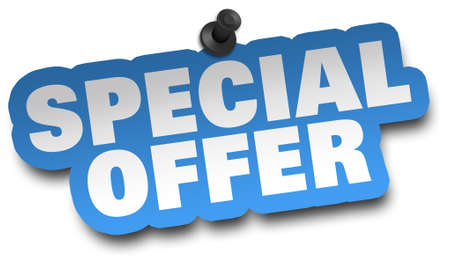 special offer concept 3d illustration isolated on white background