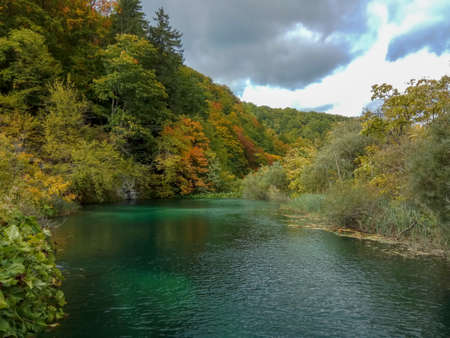 The quiet lake in Croatia, Europe. Concept of cultural and ecological tourism Фото со стока