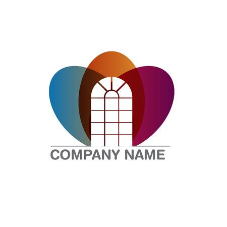 simple logo: Design vector windows logo element