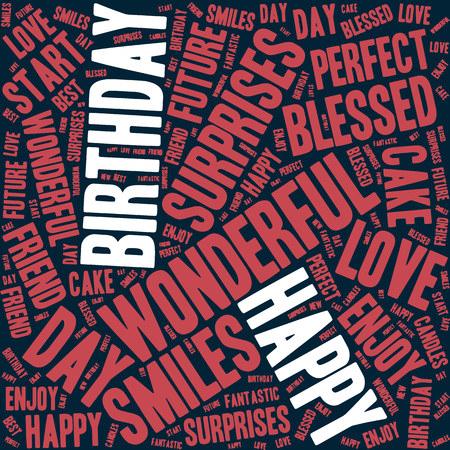 Happy Birthday typography seamless background pattern