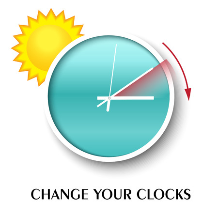 Change your clocks message for Daylight Saving Time