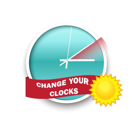 Changez votre message horloges pour l'heure d'été