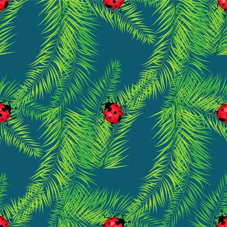ladybug: Summer background with lot of ladybug eps 10 Illustration