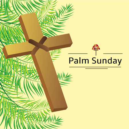 palm sunday: Palm leafs vector background with place for text.
