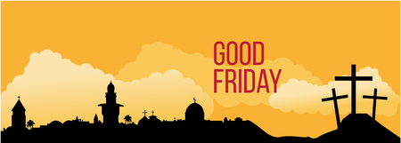 good friday: Good Friday background concept with Illustration of Jesus cross eps 10.