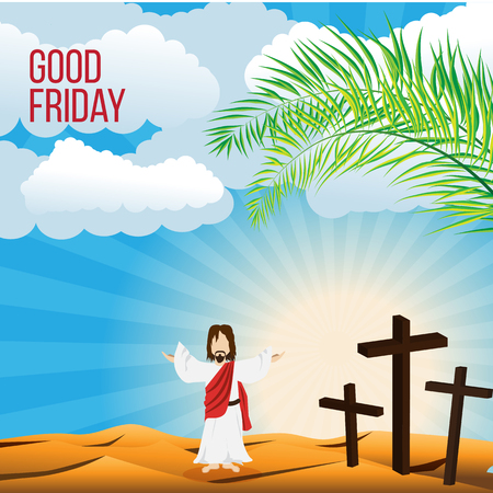 Good Friday background concept with Illustration of Jesus cross eps 10.