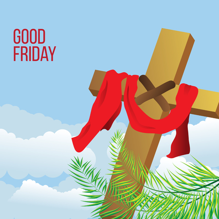 Good Friday background concept with Illustration of Jesus cross eps