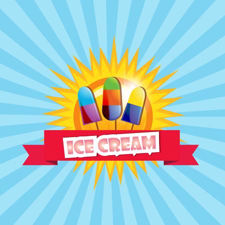 sugarplum: Ice cream background  illustaration  cartoon style