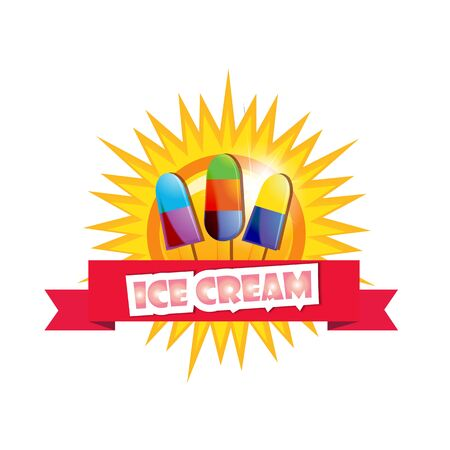 sugarplum: Ice cream background  illustaration  cartoon style