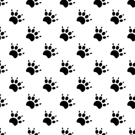 Traces de chat Motif Textile. Seamless.eps 10 vecteur. Banque d'images - 55590696