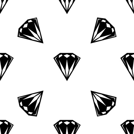dearly: Black and white style diamonds background. Geometric seamless pattern with  diamonds. eps 10