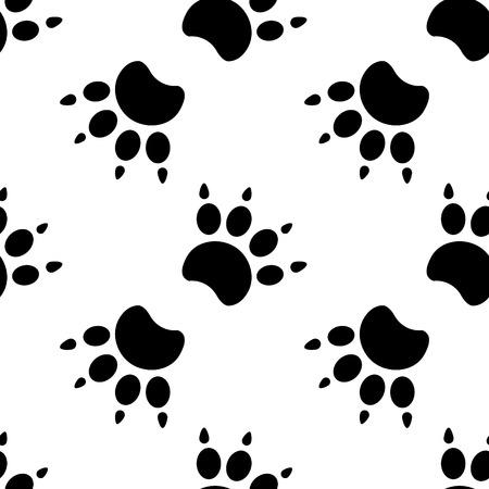 Rastros de gato Patrón textil. Vector seamless.eps 10.