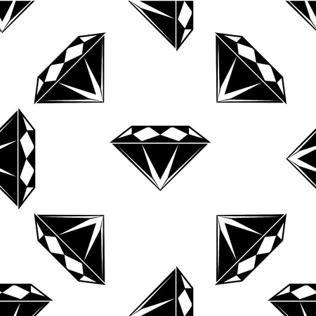 Black and white style diamonds background. Geometric seamless pattern with  diamonds. eps 10 Reklamní fotografie - 55590707