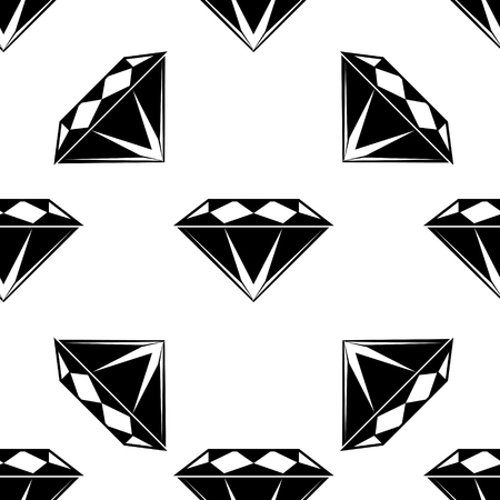 Black and white style diamonds background. Geometric seamless pattern with  diamonds. eps 10