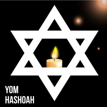 holocaust: Vector illustration of a background for Yom Hashoah -remembrance Day eps 10 Illustration