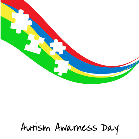conduct: Autism awareness day. Card or poster template. Vector illustration eps 10 Illustration