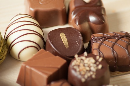 a lot of variety chocolate pralines for sweet life Banque d'images