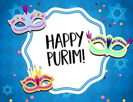 Holiday Purim ad. Masquerade Concept.