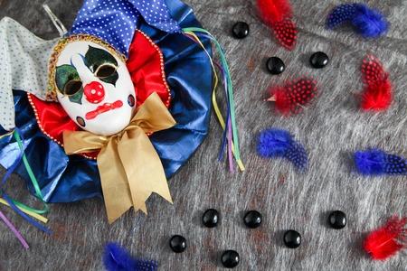 Carnival harlequin mask Banque d'images