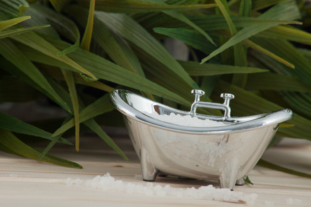 Natural bath salt, organic products. Banque d'images
