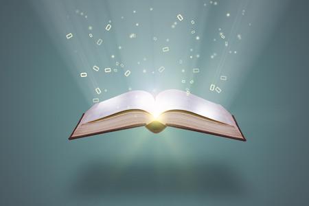 conocimiento: el conocimiento lanzar un libro abierto