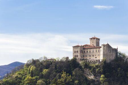 borromeo: Rocca Borromeo fortress at Angera on lake maggiore, Italy.