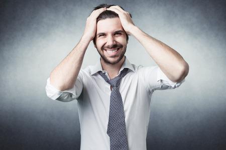 raised eyebrows: bearded man confused.