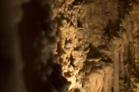 stalagmites: Stalagmites and stalactite.  toirano Caverns National Park,    Italy.. Stock Photo