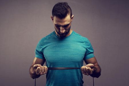 italian fitness man on background