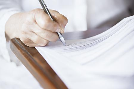 soft focus pen writing Фото со стока