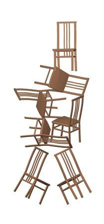 top 7: Pir�mide de las siete sillas de pl�stico poner unos contra otros