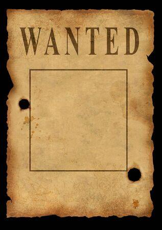 saloon: El salvaje Oeste. El viejo cartel sobre la b�squeda de los criminales