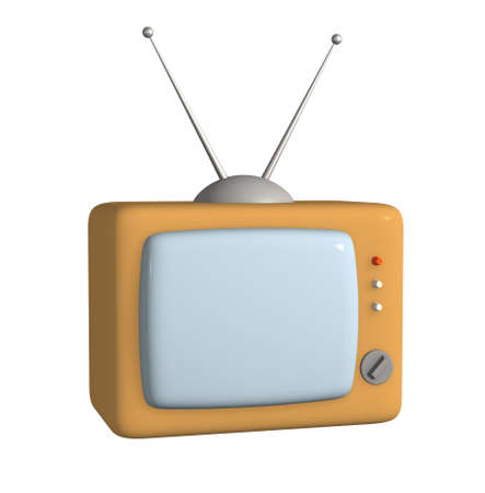 3d stylized model of a retro of the television. Objects over white Stock Photo - 2733201