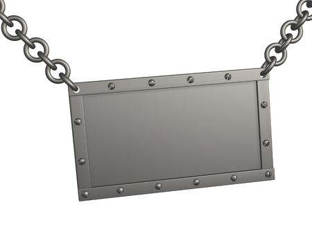 The 3d metal tablet, suspended on circuits. Objects over white Stock Photo - 2809628