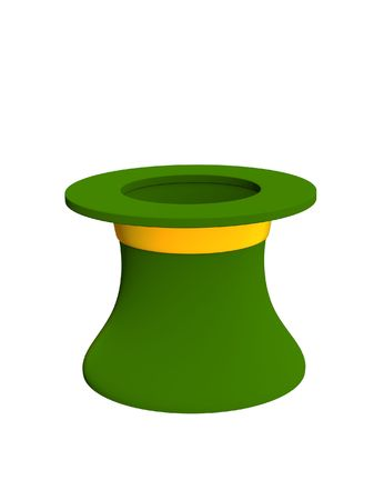 3d hat leprechaun green color. Objects over white Stock Photo - 2846998