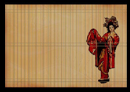 reed: Background - an ancient volumetric Japanese reed mat