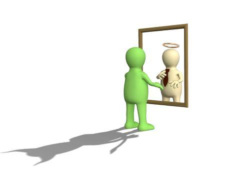 dudando: Latente car�cter rasgos de la persona. Objeto m�s blanco