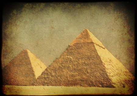 Background with Egyptian pyramids photo