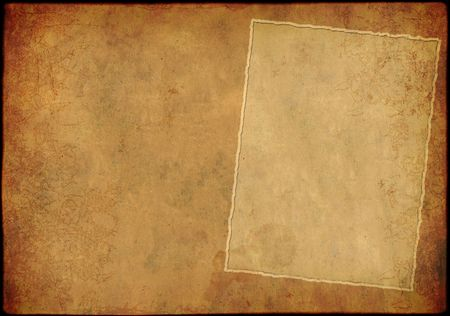 fragmentary: Grunge background - a sheet of the old, fragmentary paper