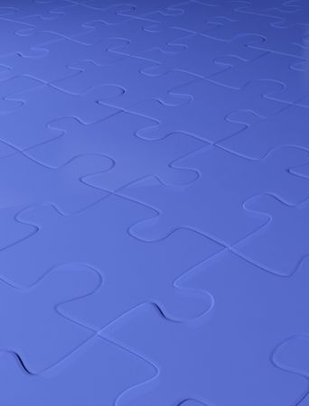 Abstract blue background from puzzle combined together photo
