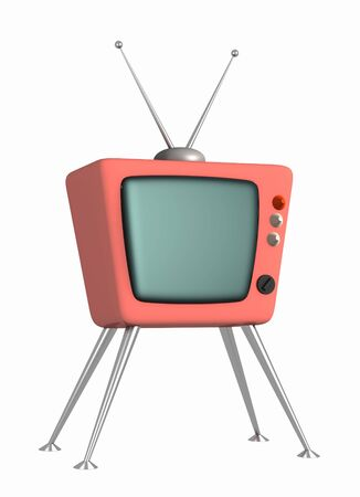 3d stylized model of a retro of the television. Object over white Stock Photo - 3247635