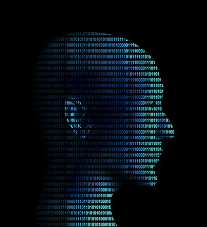 Human profile from a binary code Stock Photo - 3247654